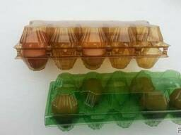 Tray for chicken eggs from PET transparent packaging - photo 8