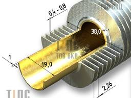 Brass Ribbed Tube (finned pipe) 19x1x38