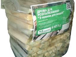 Firewood for ignition, polyethylene packaging, 6kg