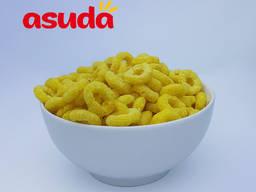 Кукурузные колечки со вкусом апельсина, клубники, яблока, ванили