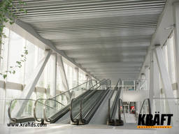 Laminate strip screen suspended ceiling from manufacturer