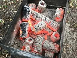 Eco Briquettes set for barbeque