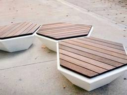 Street furniture from marble stone - фото 4